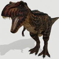 3D dinosaur rex model