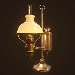 antique oil lamp ready 3D