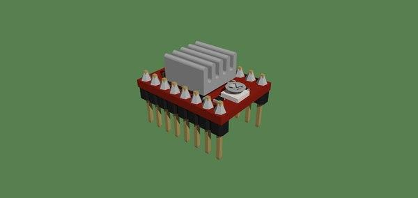 3D model driver a4988
