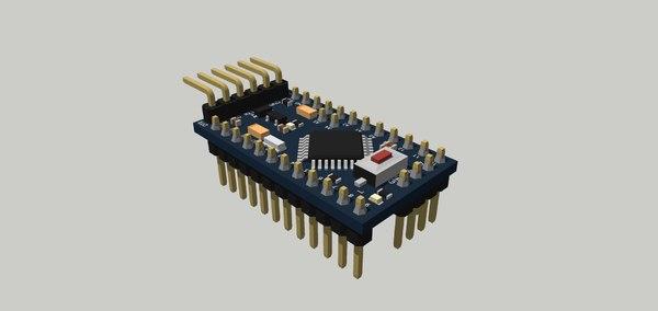 pro mini board 3D