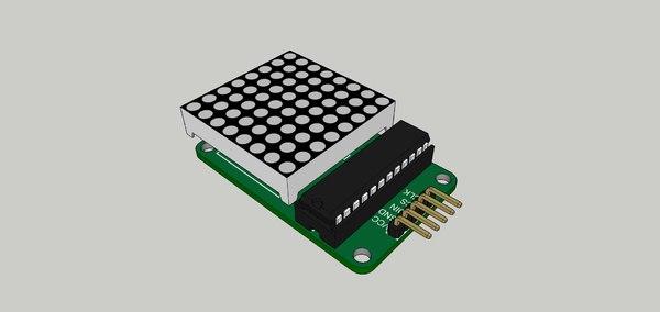 3D matriz led 8x8