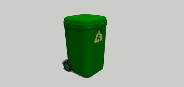 3D waste bin model