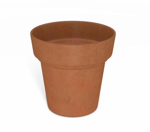 3D flower pot - clay