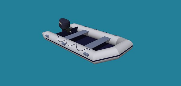 3D inflatable boat motor