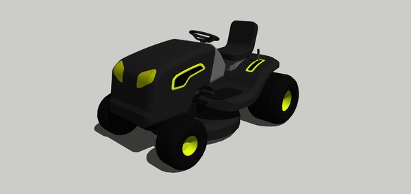 3D model lawnmower tractor