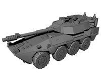 b1 centauro armoured car 3D model