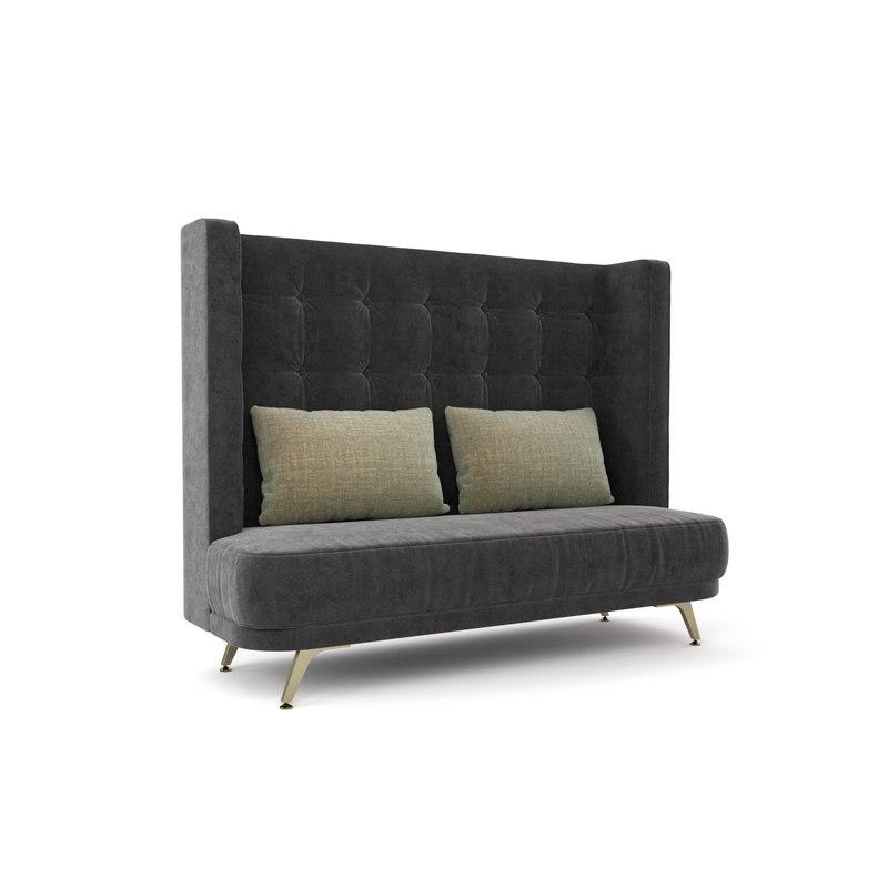 3D model sofa loveseat