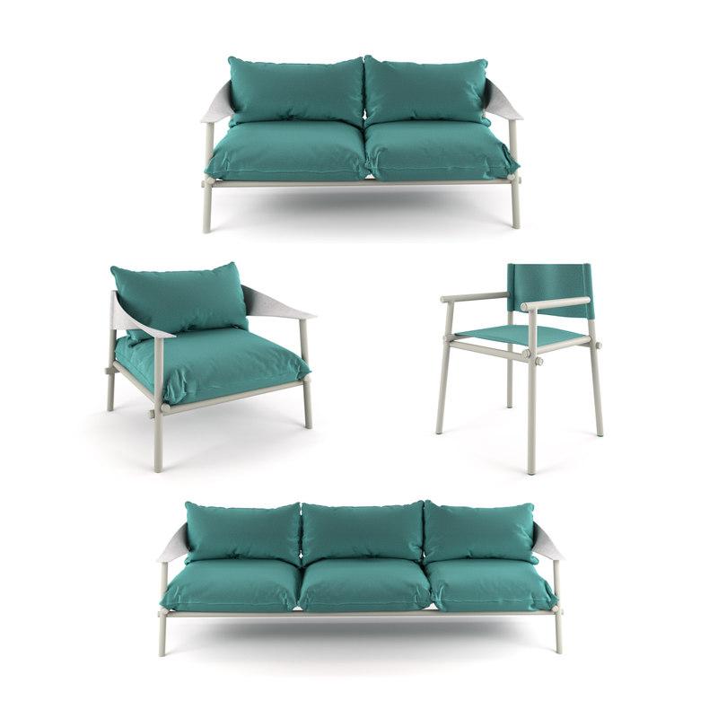 terramare chair seats sofa 3D