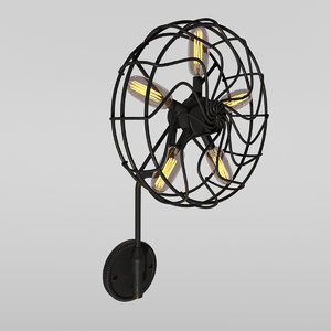 3D industrial sconce