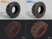 loader tyres 3D model