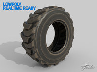 3D loader tyre dirt
