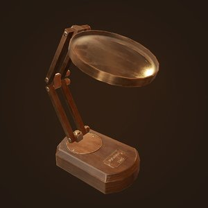 antique magnifying glass ready 3D model