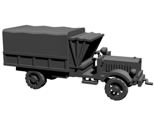 printable ww1 truck 3D model