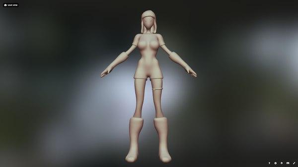 3D lilou mesh model