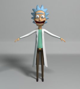 rick morty 3D