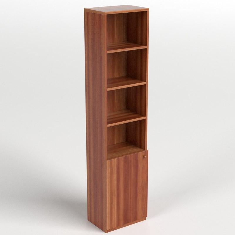 bookshelf drawer 3D model