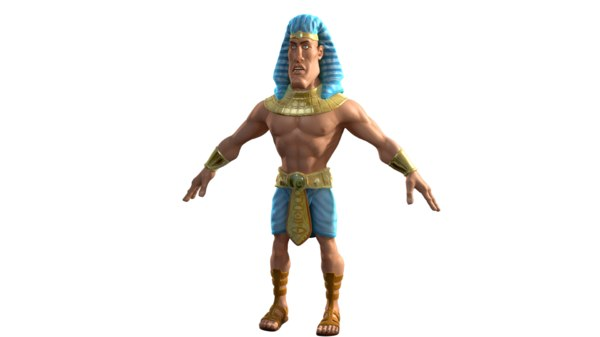 3D egypt soldier character model