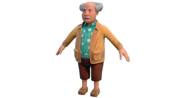 grandfather 3D model