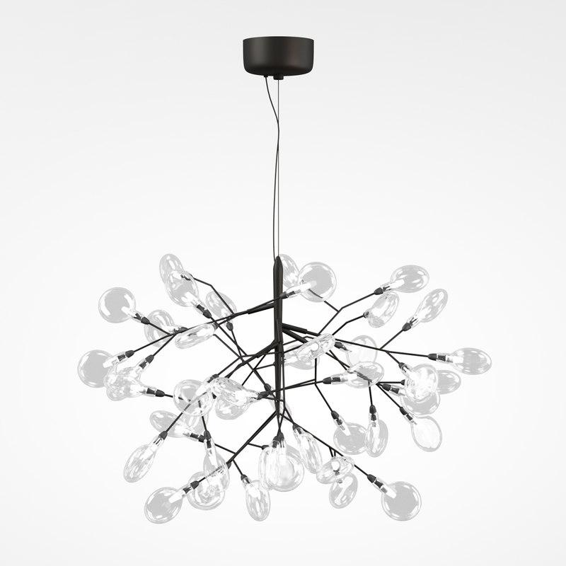 3D led chandelier crystal lux model