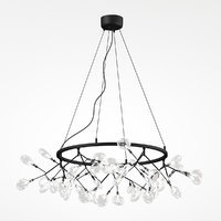 3D model chandelier crystal lux evita