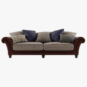 classic leather sofa 3D model