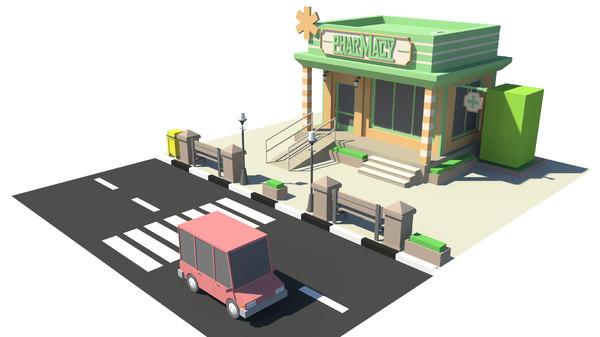 building pharmacy 3D model