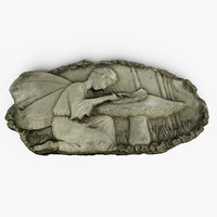 3D model fairy plaque relief