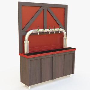 3D beer cabinet model
