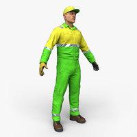 3D street cleaner model