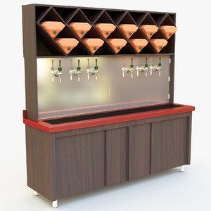3D wine beer cabinet