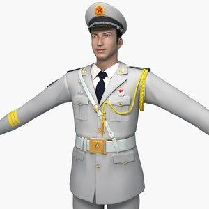 3D model naval guard honor dresses