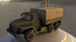 3D ural army truck