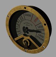 engine room telegraph gauge 3D