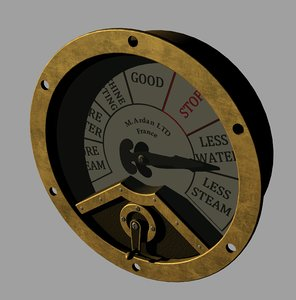 engine room telegraph gauge 3D