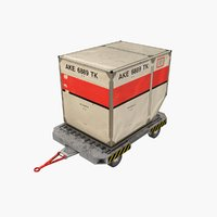 Airport Luggage Cart  with Container