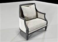 3D armchair classic