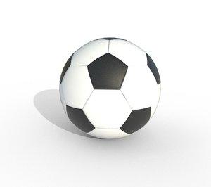 3D new soccer ball old model