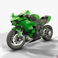 3D kawasaki ninja h2r motorcycle model