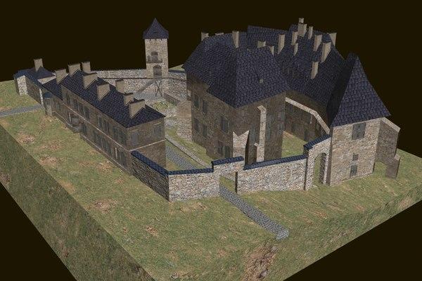 3D model saltworks castle wieliczka cracow