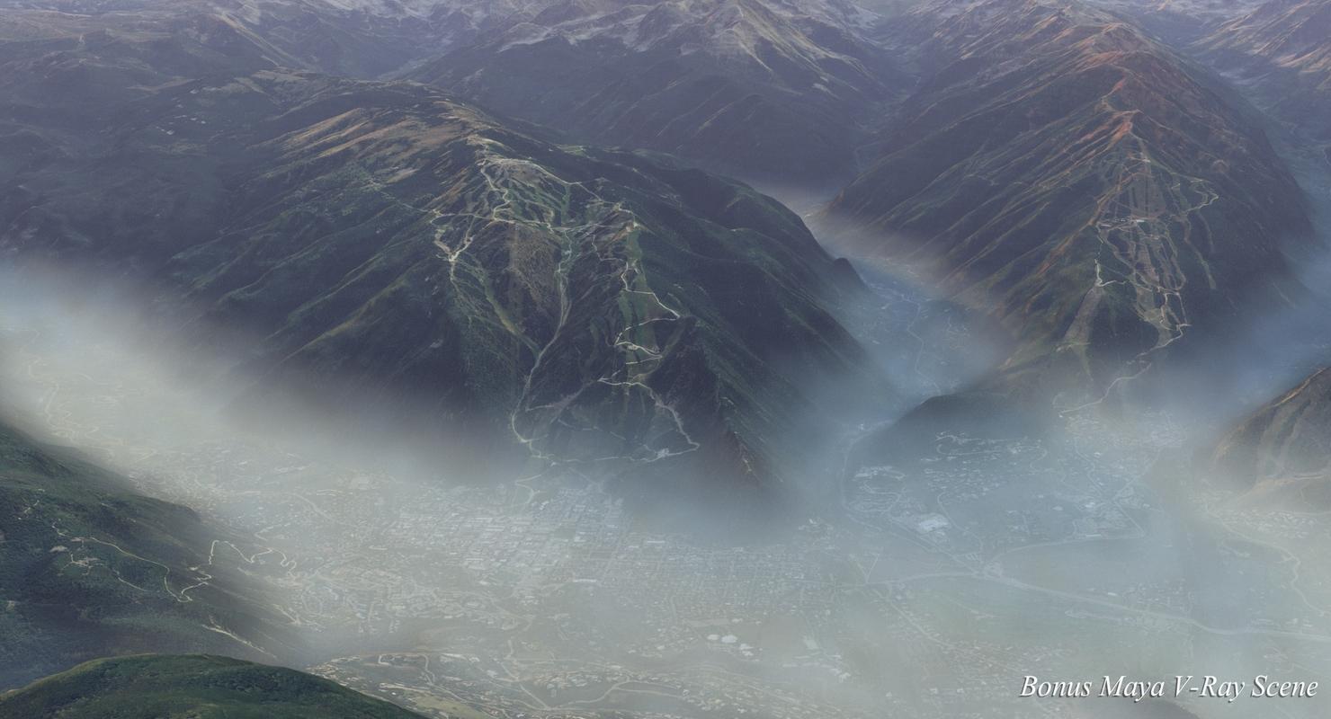 3D model large scale colorado terrain