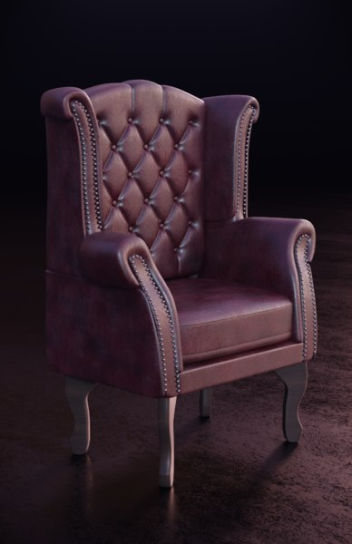 leather wing chair model