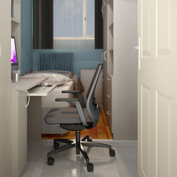 teen room interior 3D