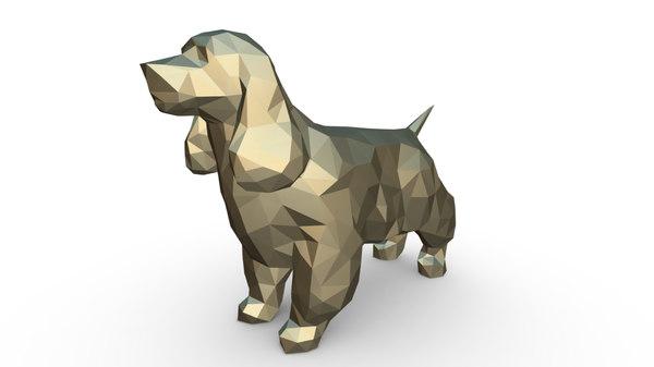 3D printed cocker spaniel figure