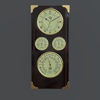 3D barometer clock station model