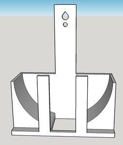 amazon echo dot wall 3D model