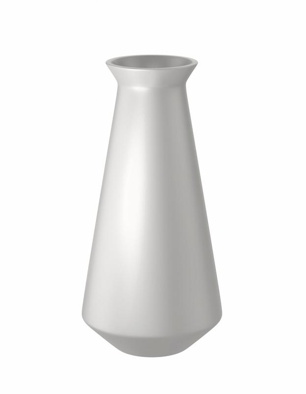 3D modern white vase model
