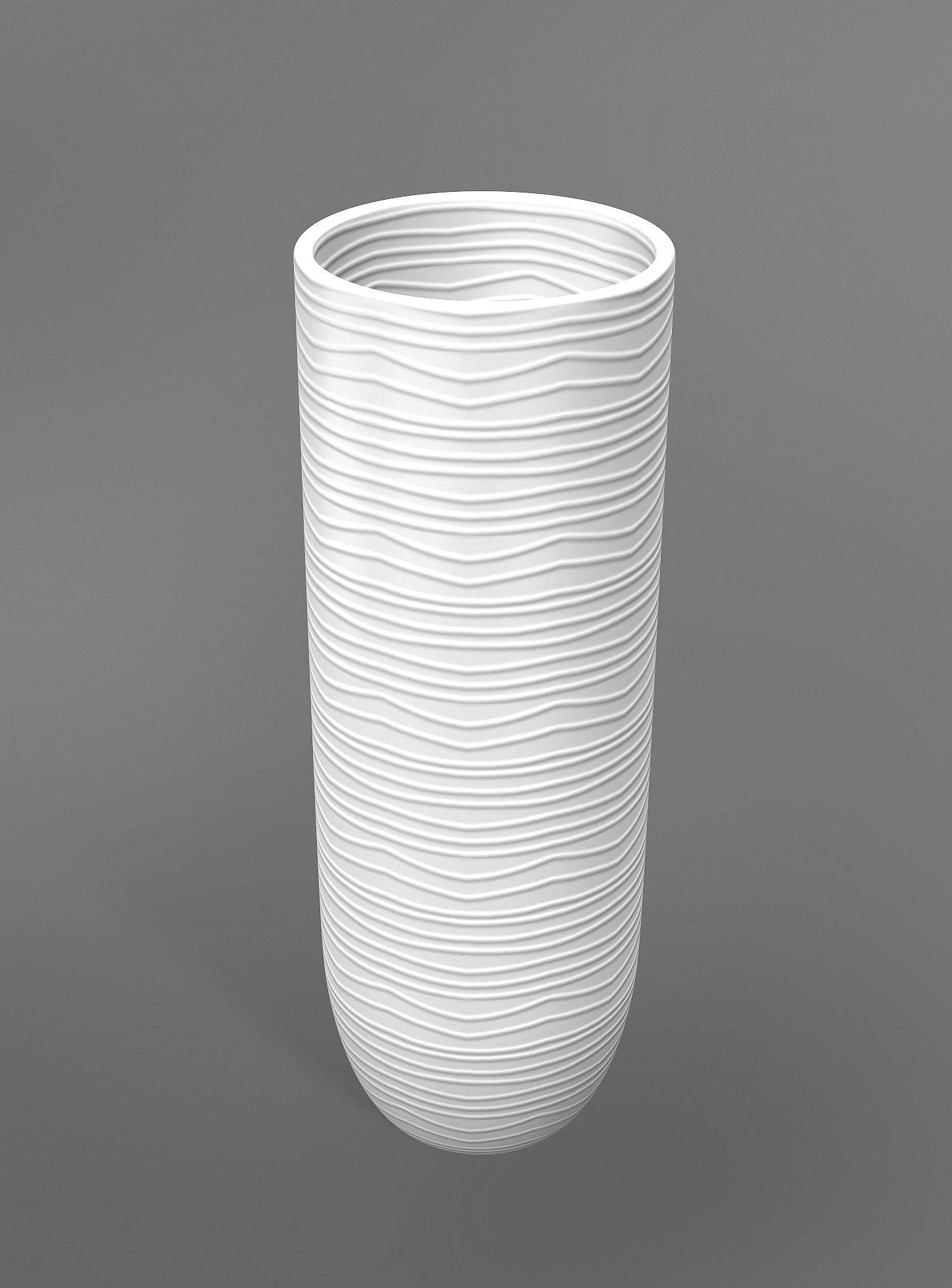 3D modern white vase