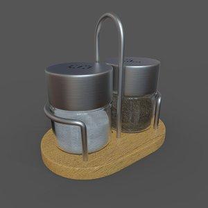 salt pepper holder calve 3D model