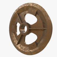 Pulley guiding wheel