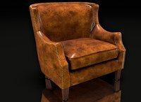 3D model club chair